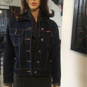 Jackets & Blazers - Dark Blue Denim Jean Jacket Small